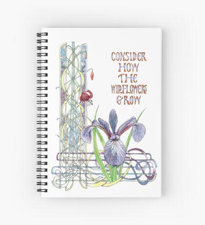 Consider the Wild Flowers Spiral Notebook