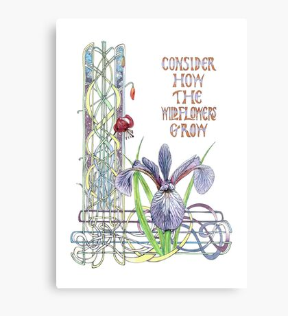 Consider the Wild Flowers Metal Print