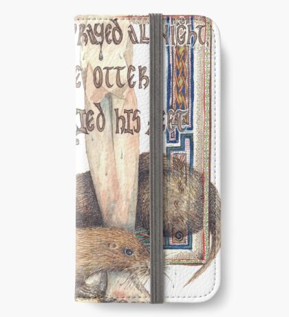 St. Cuthbert and the Otter iPhone Wallet