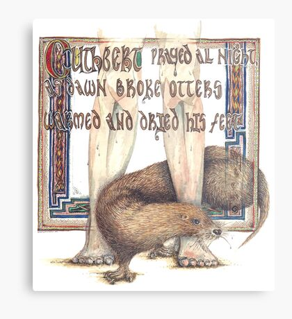 St. Cuthbert and the Otter Metal Print