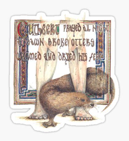 St. Cuthbert and the Otter Sticker