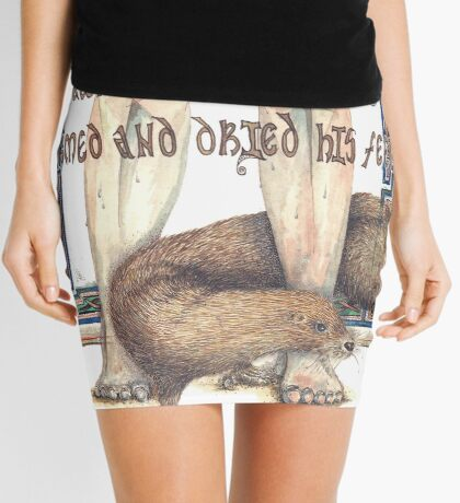 St. Cuthbert and the Otter Mini Skirt