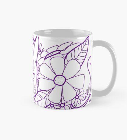 Pangaea Cat Purple Lines Mug