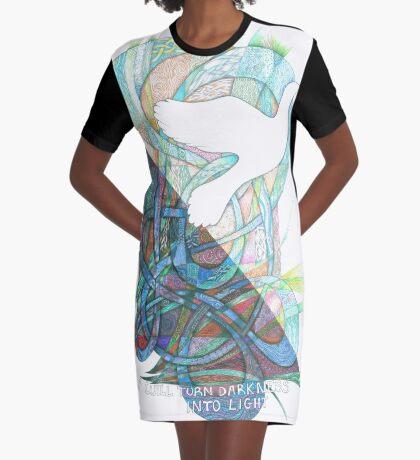 Darkness into Light Graphic T-Shirt Dress