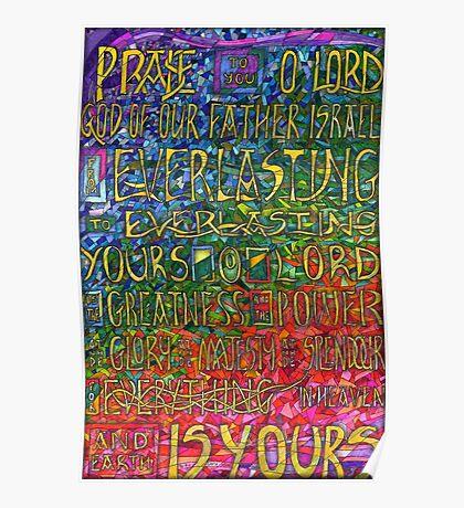 David's Praise Poster