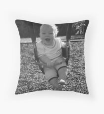 learning to swing Throw Pillow