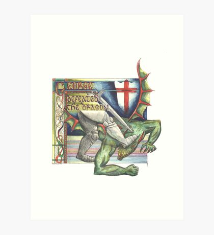 St. George and the Dragon Art Print