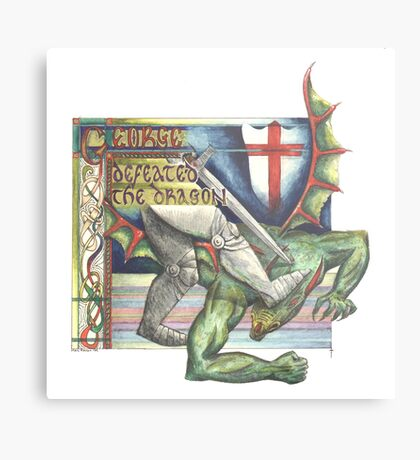 St. George and the Dragon Metal Print