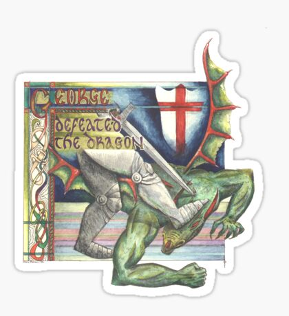 St. George and the Dragon Sticker