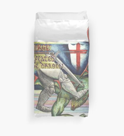St. George and the Dragon Duvet Cover