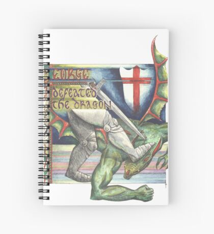 St. George and the Dragon Spiral Notebook