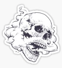 Vaping Skull Sticker