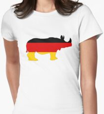 German Flag - Rhino Womens Fitted T-Shirt