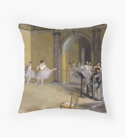 Mixed masters-Jane Avril at the Opera Throw Pillow