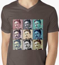 Nikola Tesla T-Shirt - Pop Art Clothing For Men Women Mens V-Neck T-Shirt