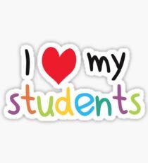 I Heart My Students Teacher Love Sticker