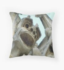 """Crystalized"" Gargoyle - Notre Dame Throw Pillow"