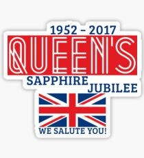 Queen's Sapphire Jubilee Sticker