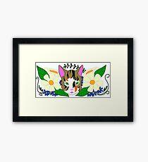 Pangaea Cat  Framed Print
