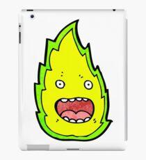 cartoon green flame iPad Case/Skin