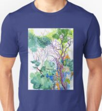 trees in the park on Montemarcello Mount Unisex T-Shirt