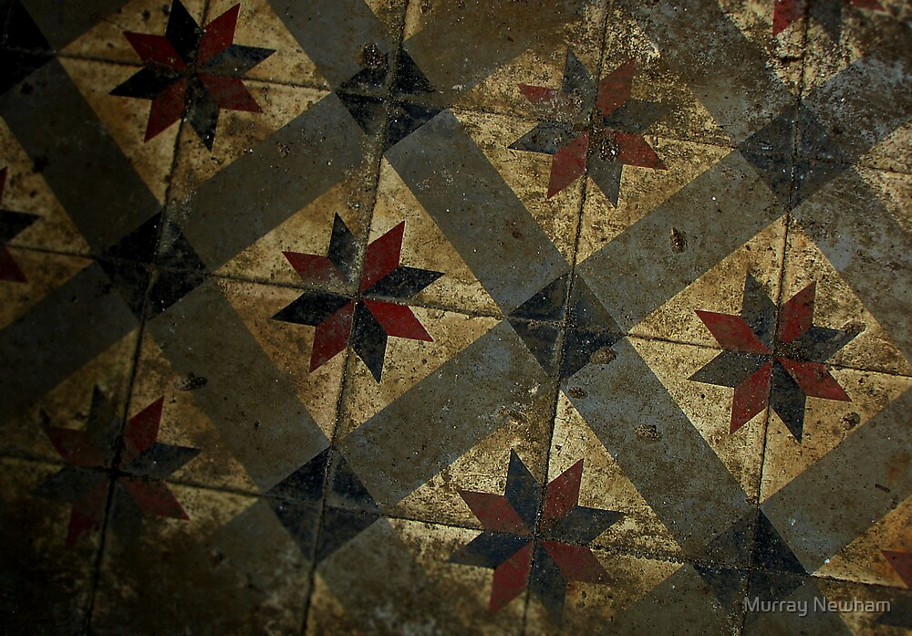 Floor of an abandoned Casino, Cambodia by Murray Newham