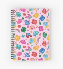 Wizard Of Oz gemstone themed pattern Spiral Notebook