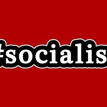 Socialista - Hashtag - Blanco y negro de graphix