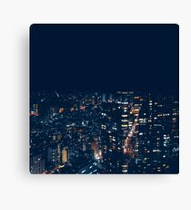 Urban Cityscape night lights Buildings Canvas Print