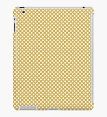 Spicy Mustard and White Polka Dots iPad Case/Skin