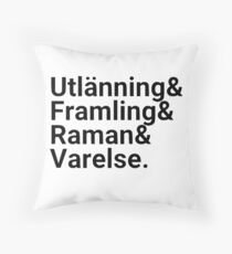 Ender's Game, Hierarchy of Foreignness, Black Throw Pillow