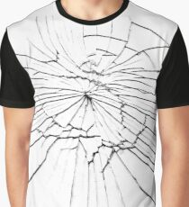Shattered glass - cracks and shards Graphic T-Shirt
