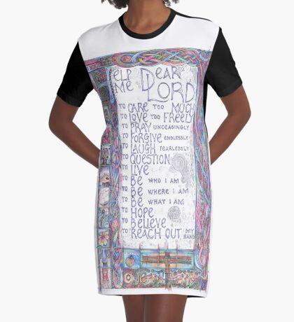 Help Me Dear Lord Graphic T-Shirt Dress