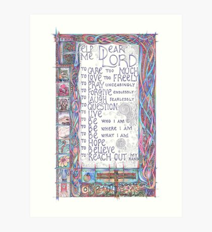 Help Me Dear Lord Art Print