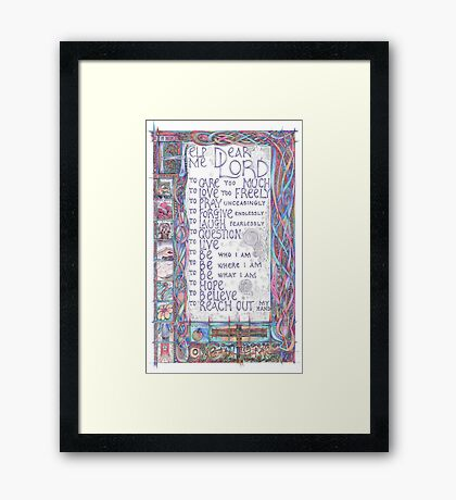 Help Me Dear Lord Framed Print