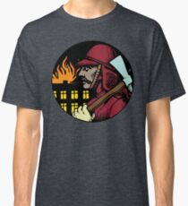 Vintage Fireman Gifts - Retro Firefighter Birthday Gift Ideas   Classic T-Shirt