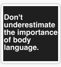 Body Language White Sticker