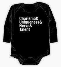 Charisma, Uniqueness, Nerve & Talent blk One Piece - Long Sleeve