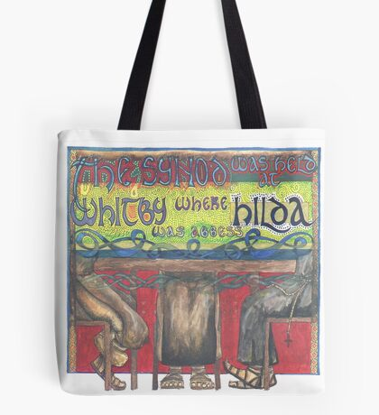 Abbess Hilda and the Synod of Whitby Tote Bag