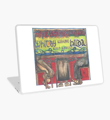 Abbess Hilda and the Synod of Whitby Laptop Skin