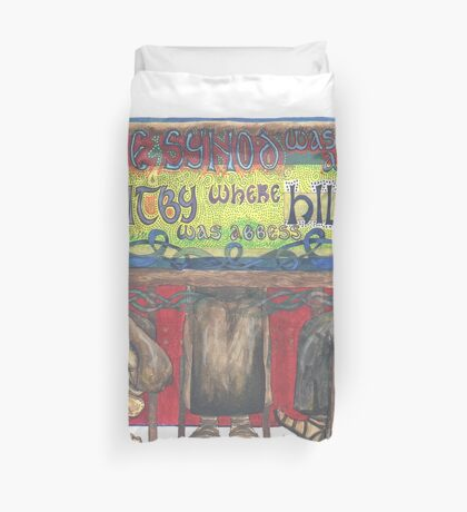 Abbess Hilda and the Synod of Whitby Duvet Cover