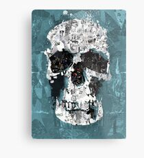 The Blue Skull of Baker Street Metal Print