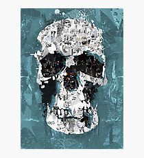 The Blue Skull of Baker Street Photographic Print