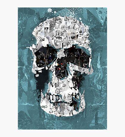 The Blue Skull of Baker Street Photographic Print