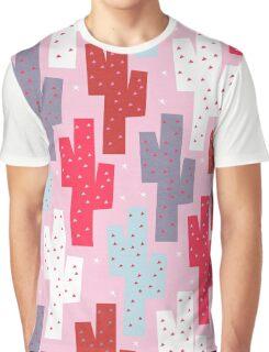 Sweet cactus pattern Graphic T-Shirt