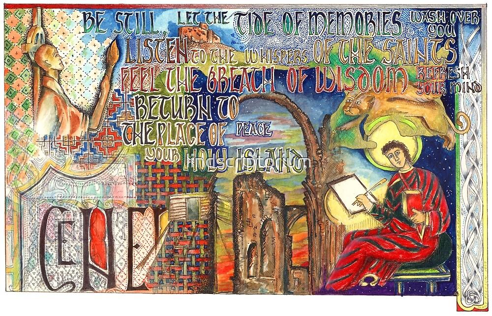Holy Island by lindscriptorium