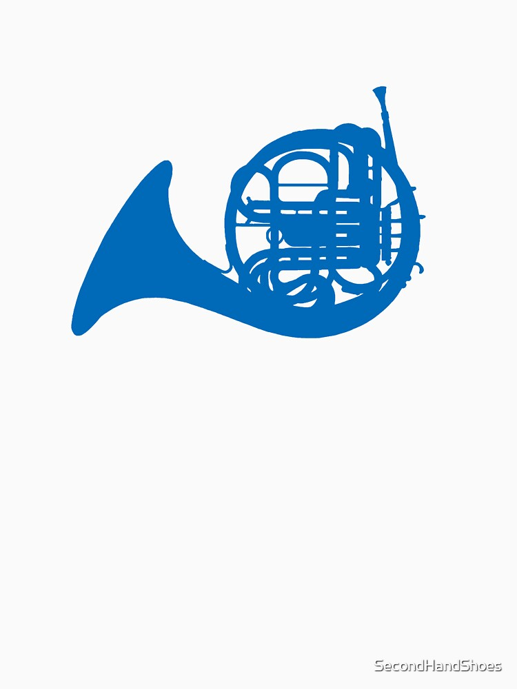 Blue French horn by SecondHandShoes