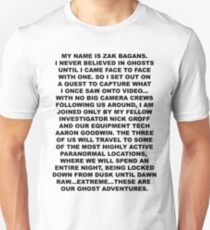 MY NAME IS ZAK BAGANS Unisex T-Shirt