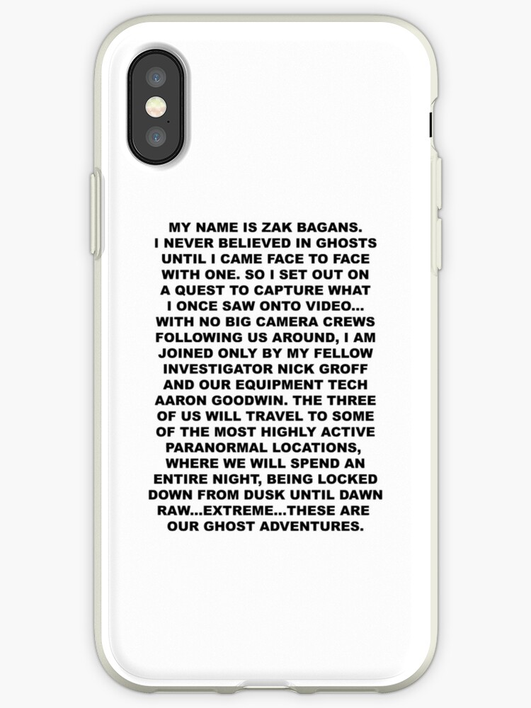 u0026quot my name is zak bagans u0026quot  iphone cases  u0026 covers by marinemadelyn