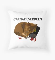 Catnap Everdeen Throw Pillow